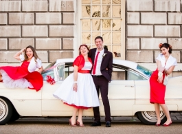 American Cadillac wedding hire in Richmond