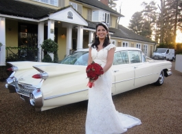 1950s Cadillac wedding car in Kingston Upon Thames