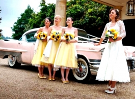 Pink Cadillac for weddings in Tonbridge