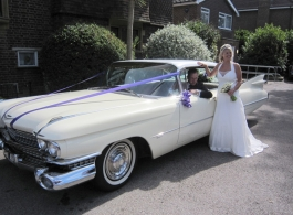 American Cadillac wedding Car in High Wycombe