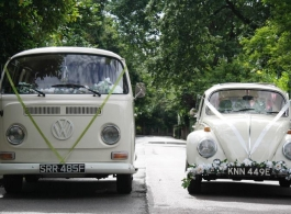 Bay Window VW Campervan for weddings in Chelsea
