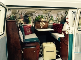 1960s Splitscreen VW Campervan wedding hire in Basingstoke