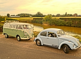 Splitscreen Campervan available for wedding hire in Petersfield