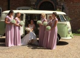 Retro VW campervan wedding hire in Chichester