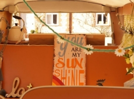 Classic 1960s Campervan for weddings in Chichester