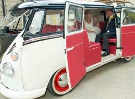 1960s VW Campervan for weddings in Rugby