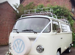 Classic campervan hire for weddings in Haslemere