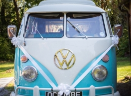 Classic 1960's Campervan for wedding hire in Chichester