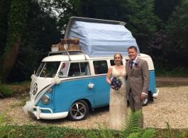 Splitscreen VW Campervan for weddings in Westbury On Trym