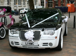 Modern Chrysler 300 Saloon for weddings in Chichester