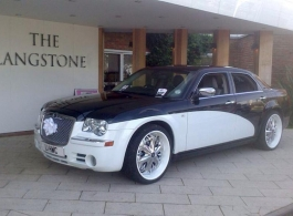 Modern Chrysler wedding car hire in Portsmouth