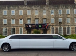 White stretch Limousine for weddings in Oxford