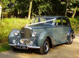 Classic 1950 Bentley wedding car in Arundel