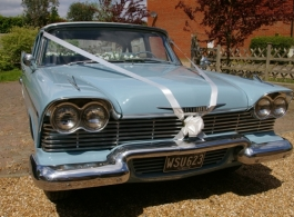 Classic American car for weddings in Croydon
