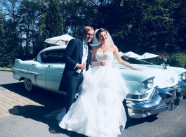 American Cadillac wedding car in Uxbridge