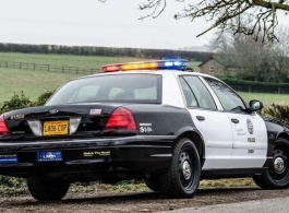 American cop car for wedding hire in Weybridge, Surrey