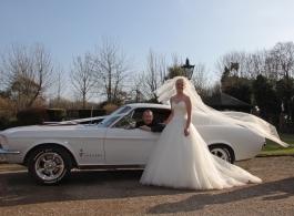 Classic American wedding car in Croydon