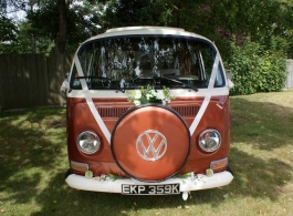 Bay Window VW Campervan for weddings in Southsea
