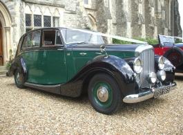 Classic Bentley wedding car in Chichester