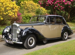 Black and beige Bentley for weddings in Battle