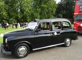 Classic Black Taxi for weddings in Milton Keynes