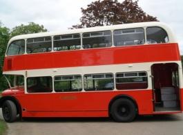 Red & Cream Bus for weddings in Birmingham