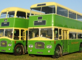 Classic Green Bus for wedding hire Arundel