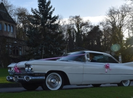 Classic White Cadillac for weddings in Bristol