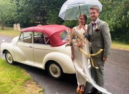 Classic wedding car hire in Ashford, Kent
