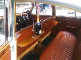 Classic 1960s Jag for wedding hire in Manchester