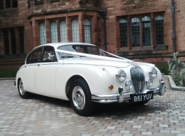 1960s Jaguar MK2 for weddings in Manchester