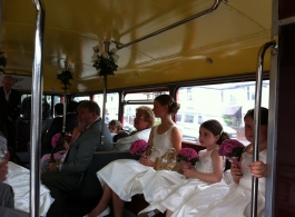 London Routemaster Bus for weddings in Magor