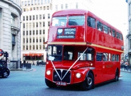 Classic London Routemaster Bus for weddings in London