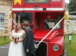 Classic London Routemaster Bus for weddings in Northampton