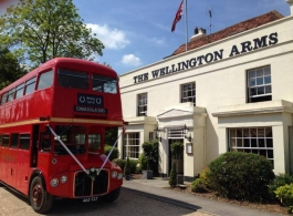 Classic Red Routemaster Bus for wedding hire in Basingstoke