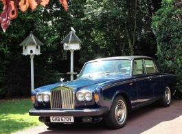 Blue Rolls Royce for weddings in Chelsea
