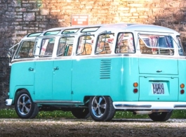 Classic VW campervan for wedding hire in Paignton