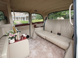 White London cab for wedding hire in London