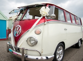 Classic Campervan for weddings in Billingshurst