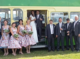 Classic Wedding Bus for hire in Southsea