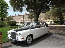 Classic Daimler Landaulette for wedding hire in Southampton