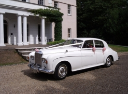 Classic White Bentley for weddings in Dartford