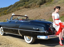 Classic American car for weddings in Wimborne