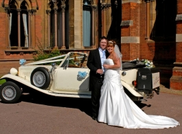 Convertible Beauford wedding car in Nottingham