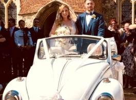 Convertible VW Beetle for weddings in Bishops Stortford