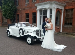 White vintage Beauford for weddings in Potters Bar