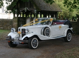 Convertible vintage Beauford for weddings in Portsmouth