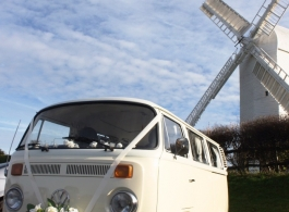 Classic VW Campervan for weddings in Burgess Hill
