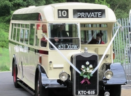 1949 vintage bus for weddings in Birmingham