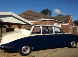 Classic wedding car for hire in Ashford